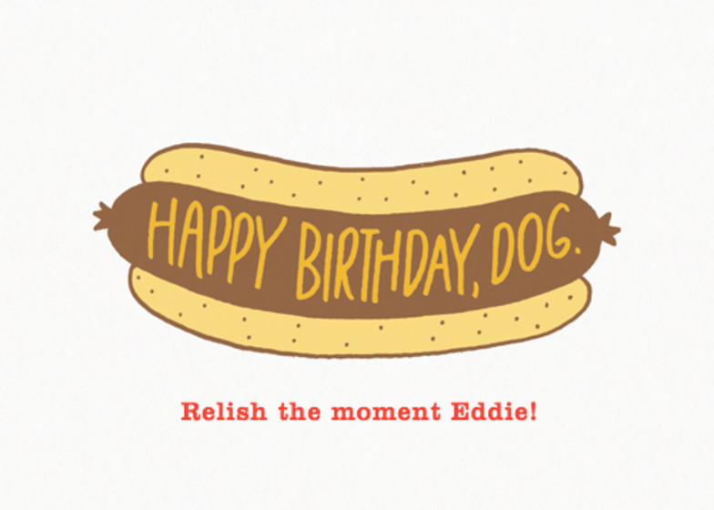 Birthday Hot Dog | Personalised Birthday Card