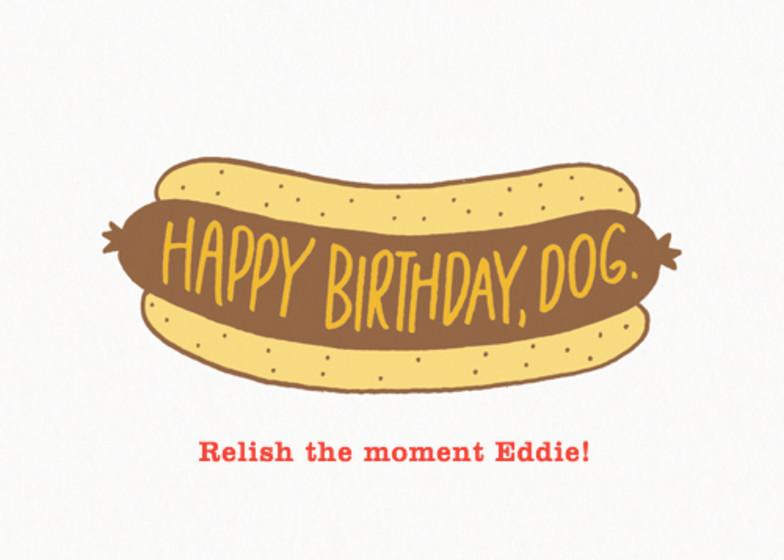 Birthday Hot Dog | Personalised Birthday Card