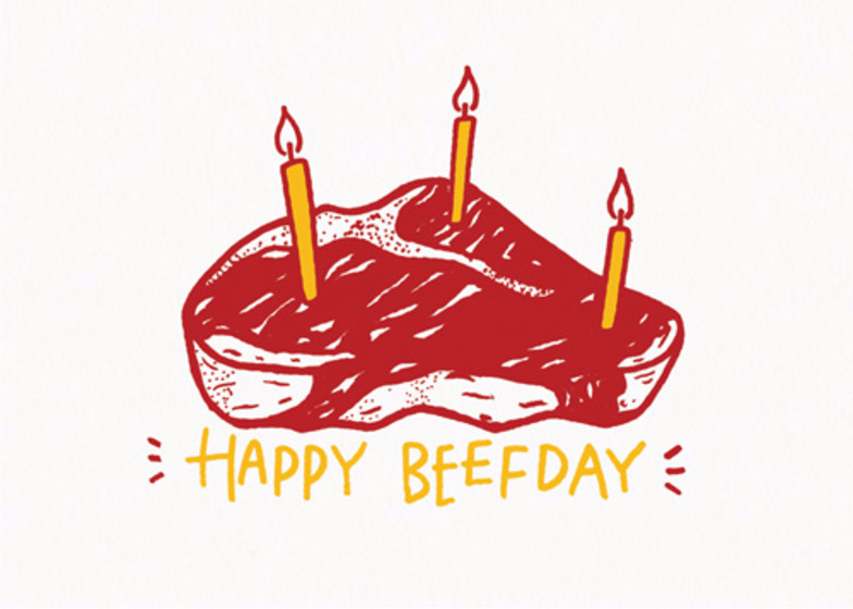 Happy Beefday | Personalised Birthday Card