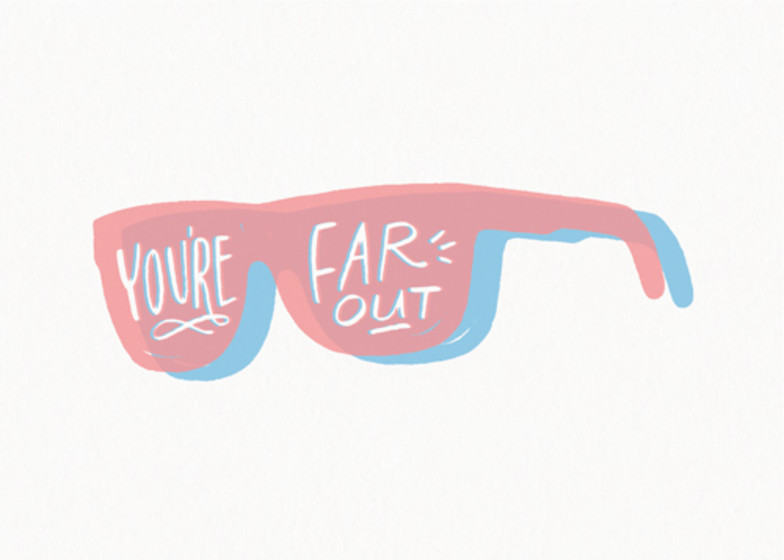 Far Out | Personalised Greeting Card