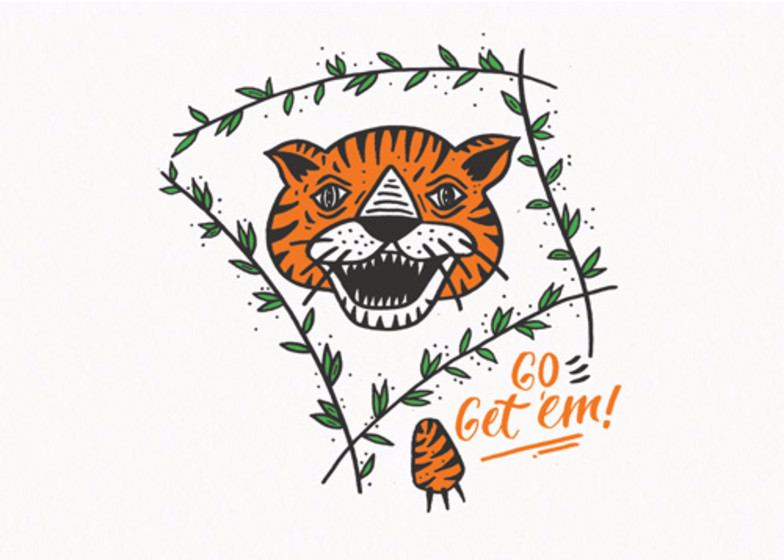 Go Get 'Em Tiger | Personalised Congratulations Card