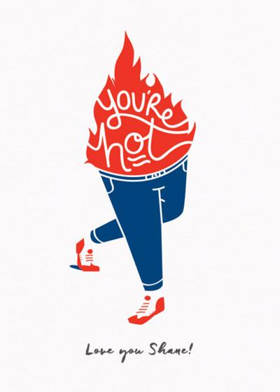 Hot Pants | Personalised Greeting Card