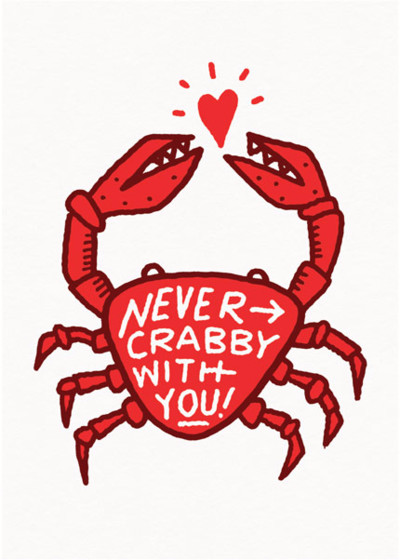 Never Crabby With You | Personalised Greeting Card