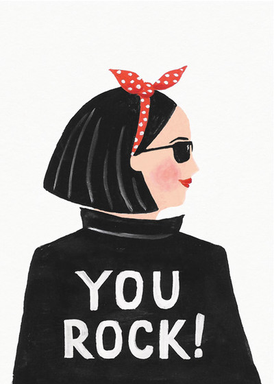 Hey, You Rock | Personalised Greeting Card