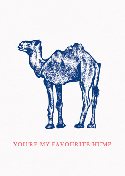 Hump Day Camel | Personalised Greeting Card