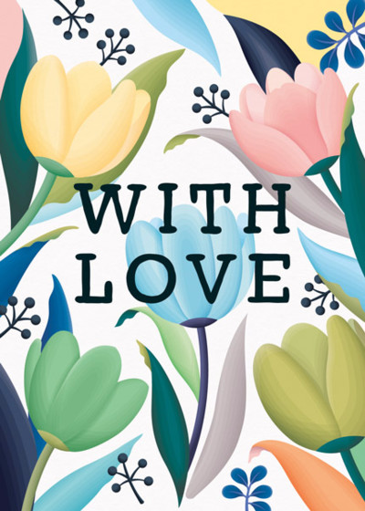 With Love Tulips | Personalised Greeting Card