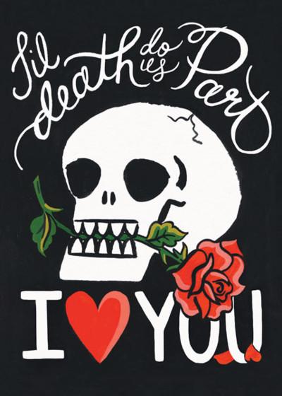 Skull & Roses | Personalised Greeting Card