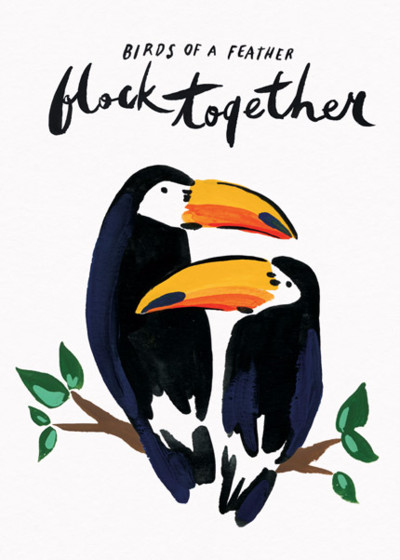 Birds Of A Feather | Personalised Greeting Card