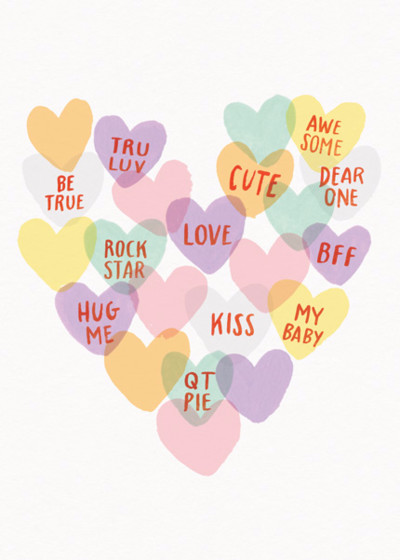 Love Hearts | Personalised Greeting Card
