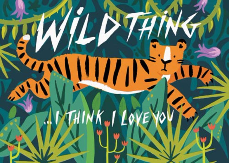 Wild Thing   Personalised Greeting Card