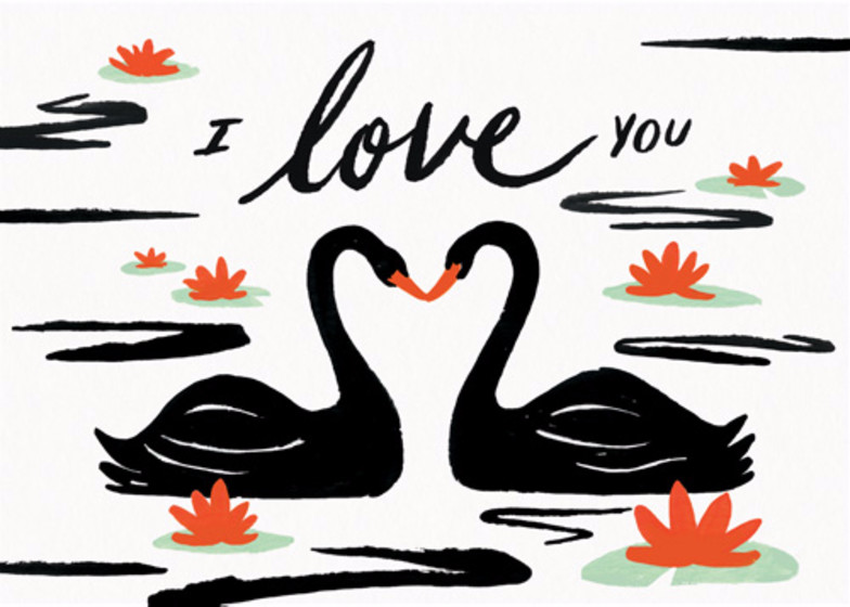 Swan Pond | Personalised Greeting Card