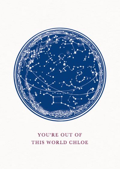Out Of This World | Personalised Greeting Card