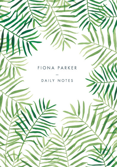 Palm Fronds | Personalised Lined Notebook