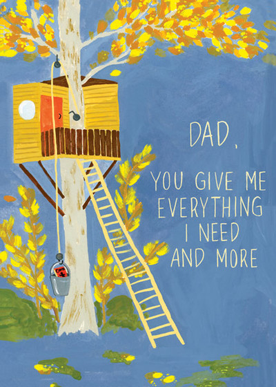 Father's Day Tree House | Personalised Greeting Card
