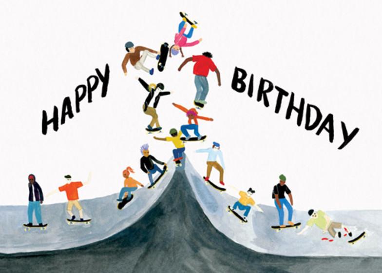 Skater Birthday   Personalised Birthday Card