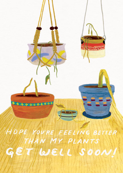 Better Than My Plants | Personalised Greeting Card