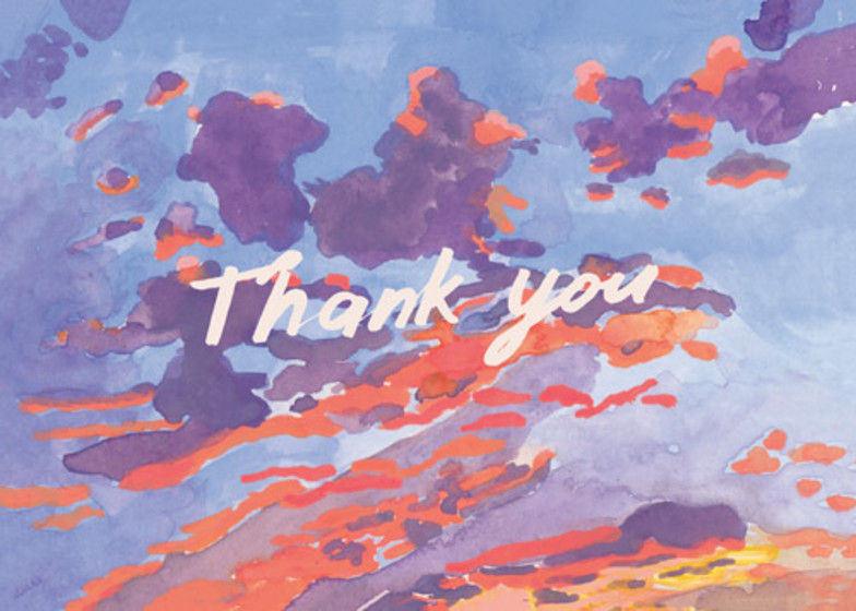 Thank You Evening Sky | Personalised Thank You Card