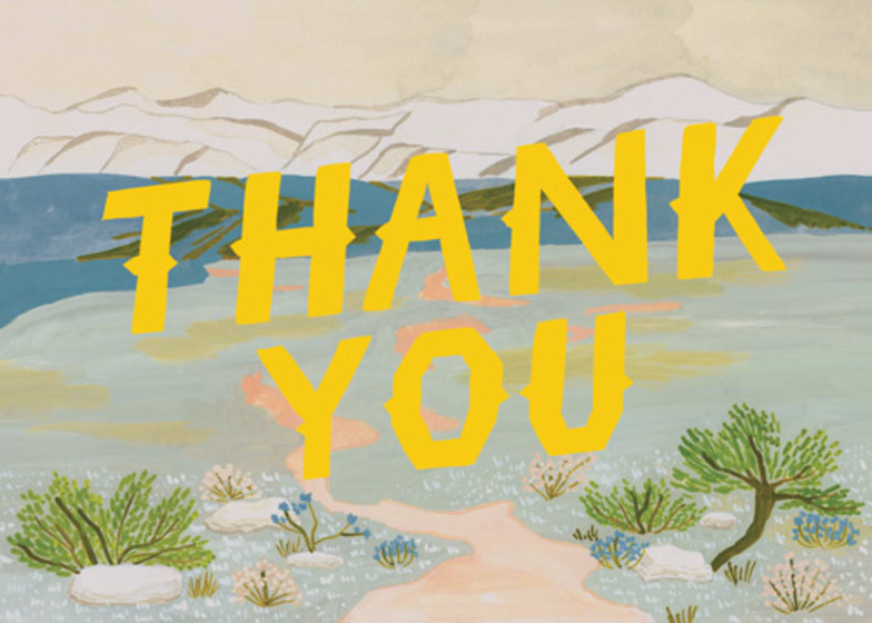 Thank You Tundra | Personalised Thank You Card