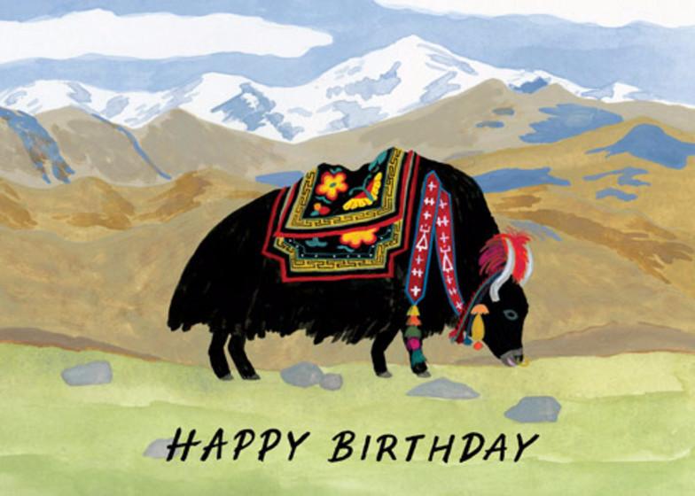 Yak Birthday | Personalised Birthday Card