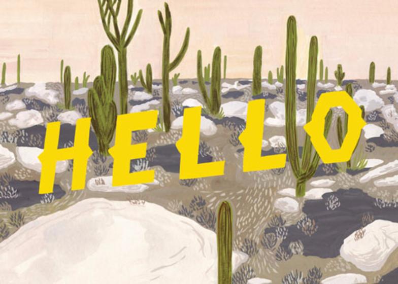 Hello Desert | Personalised Greeting Card