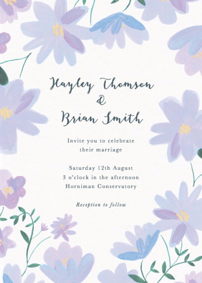 Dusky Ramblers | Personalised Wedding Invitation