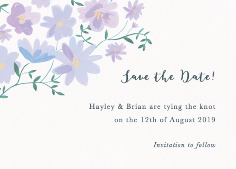 Dusky Ramblers | Personalised Save The Date