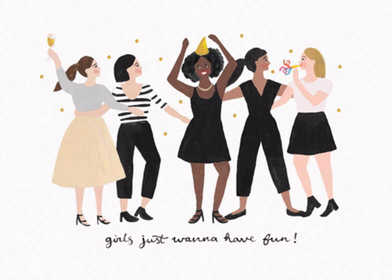 Girls Just Wanna Have Fun | Personalised Birthday Card