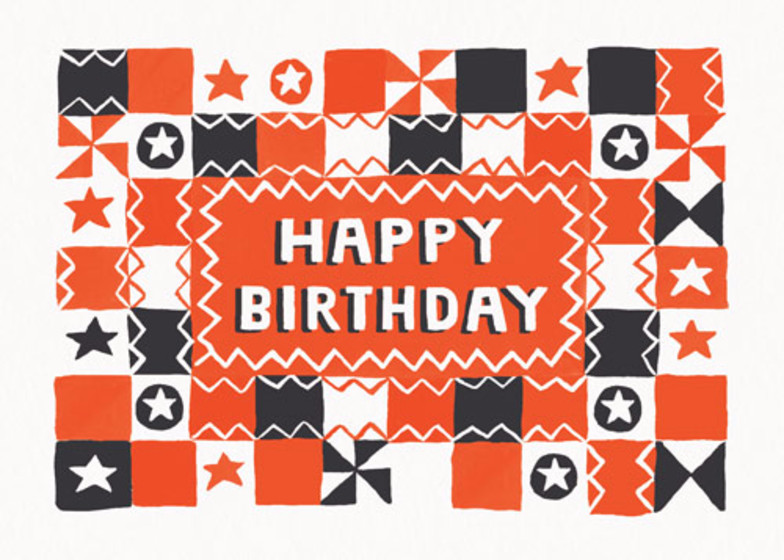 Checkerboard Birthday | Personalised Birthday Card