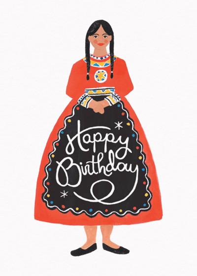 Folk Birthday | Personalised Birthday Card