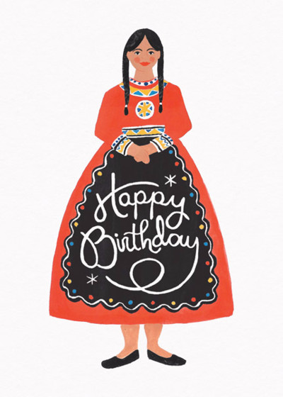 Folk Birthday | Personalised Birthday Card
