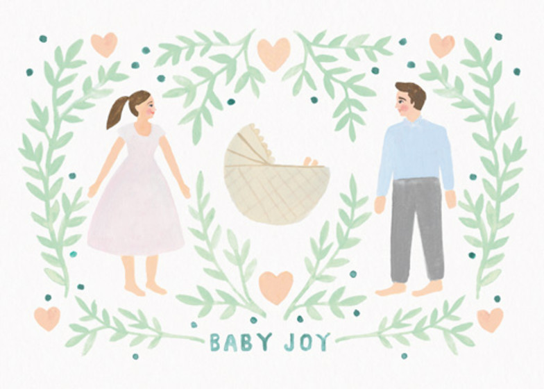 Baby Joy | Personalised Congratulations Card