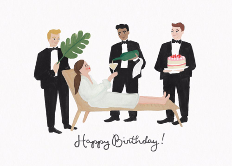 Pampered Birthday | Personalised Birthday Card