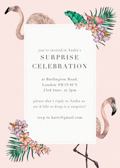 Flamingo Bay | Personalised Party Invitation
