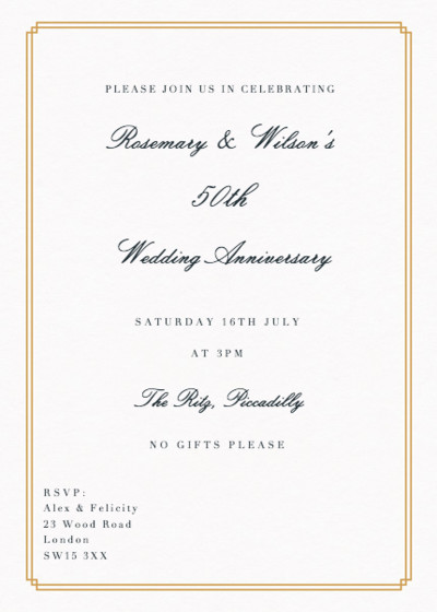 Double Frame | Personalised Anniversary Invitation