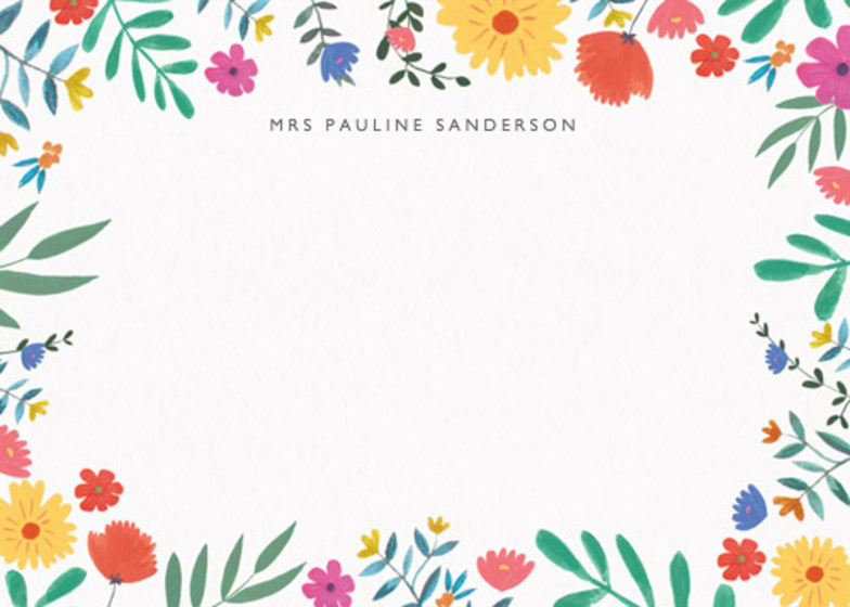 Bright Wild Flowers | Personalised Stationery Set