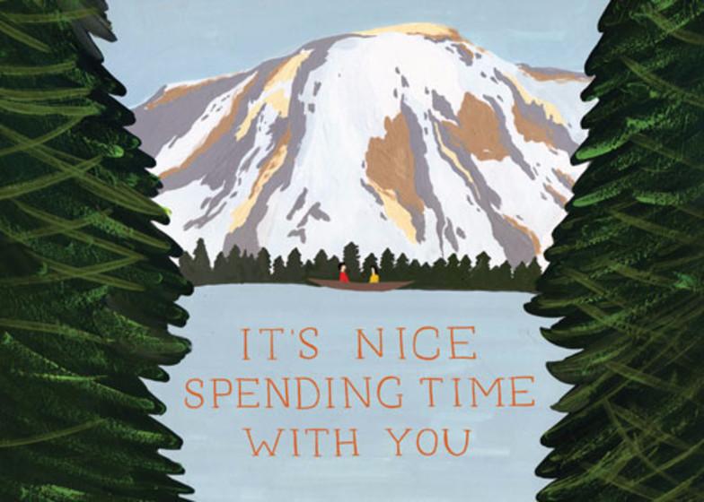 Mountain Vista | Personalised Greeting Card