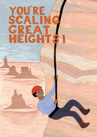 Scaling Great Heights | Personalised Congratulations Card