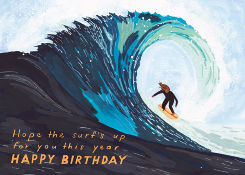 Surf's Up | Personalised Birthday Card