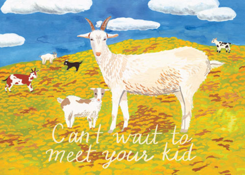 Can't Wait To Meet Your Kid | Personalised Greeting Card