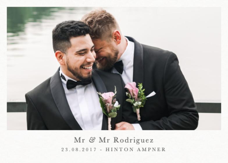 Landscape Wedding   Personalised Photo Card Set