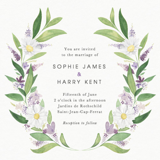Provençal | Personalised Wedding Invitation