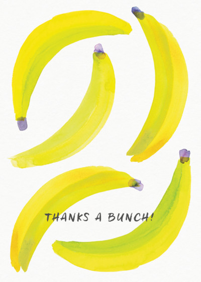 Bananas | Personalised Thank You Card Set