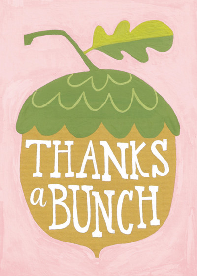 Thanks a Bunch | Personalised Thank You Card Set