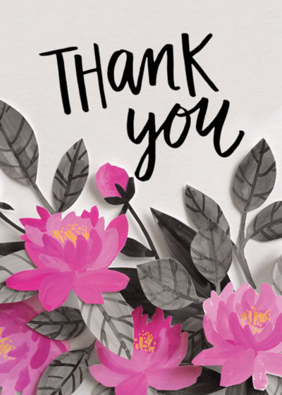 Lotus | Personalised Thank You Card Set