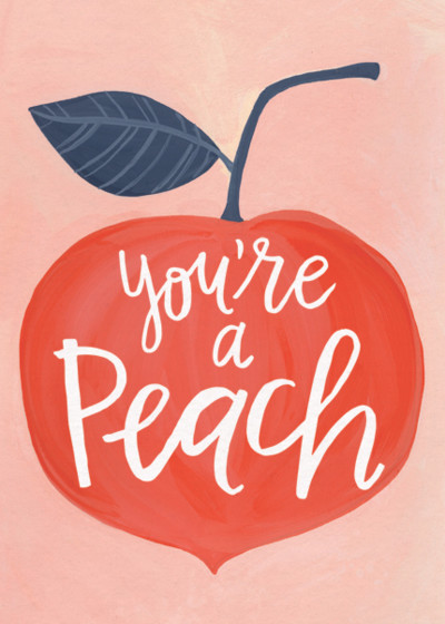 Peachy | Personalised Thank You Card Set