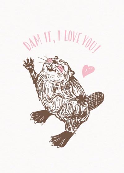 Beaver Love | Personalised Greeting Card