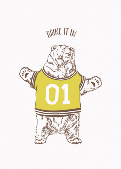 Bear Hug | Personalised Greeting Card