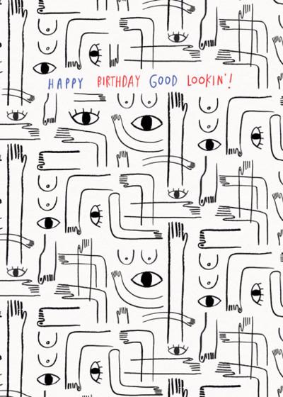 Good Lookin' | Personalised Birthday Card