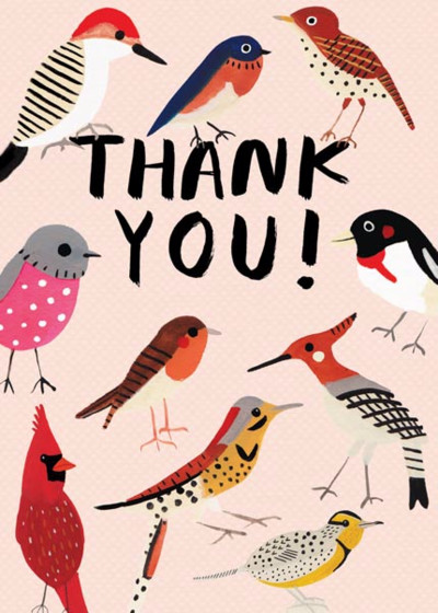 Feathered Friends | Personalised Thank You Card