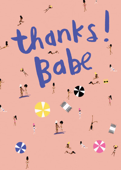 Beach Babes | Personalised Thank You Card